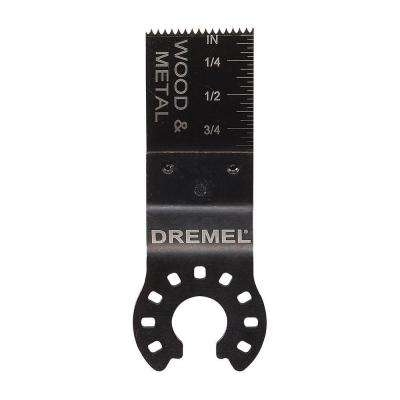 Multi-Max 3/4 in. Flush Cut Oscillating Tool Blade for Wood, Metal, Plastic, and Drywall