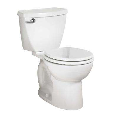 Cadet 3 PowerWash 10 in. Rough-In 2-piece 1.28 GPF Single Flush High-Efficiency Round Toilet in White