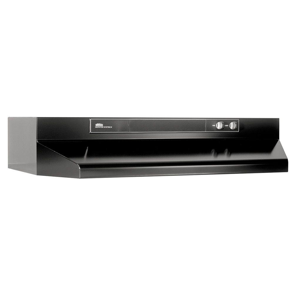 Broan 46000 series 30 in convertible under cabinet range for Broan vent a hood