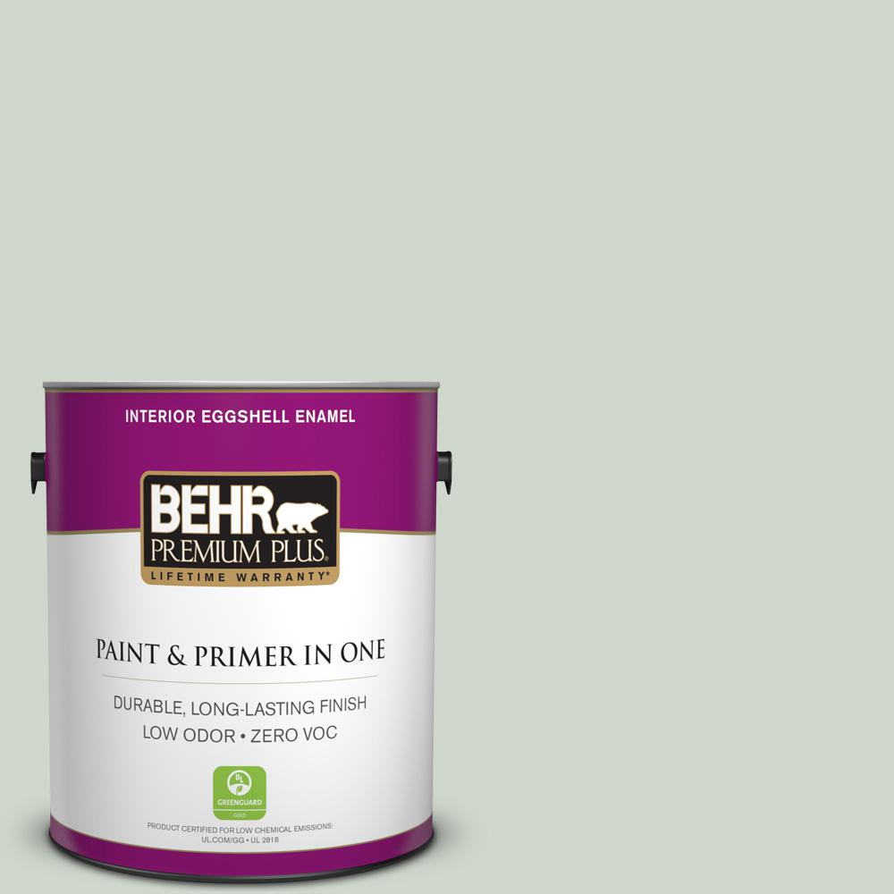 BEHR Premium Plus 1-gal. #ICC-48 Aspen Mist Zero VOC Eggshell Enamel Interior Paint