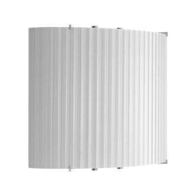 LED Wall Sconces Collection 17 -Watt Brushed Nickel Integrated LED Wall Sconce with Ribbed Glass