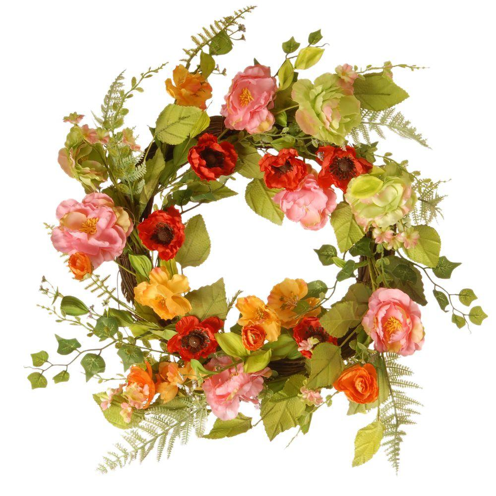 National tree company 22 in spring flower wreath ras 150326 1 the spring flower wreath mightylinksfo