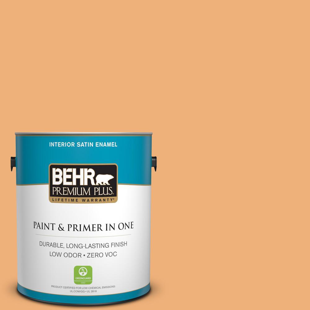 BEHR Premium Plus 1-gal. #290D-4 Arizona Zero VOC Satin Enamel Interior Paint
