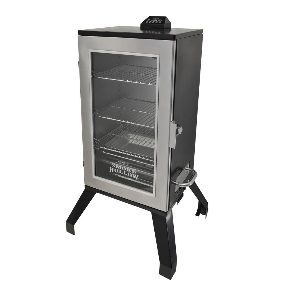 30 in. Digital Electric Smoker with Window in Stainless Steel