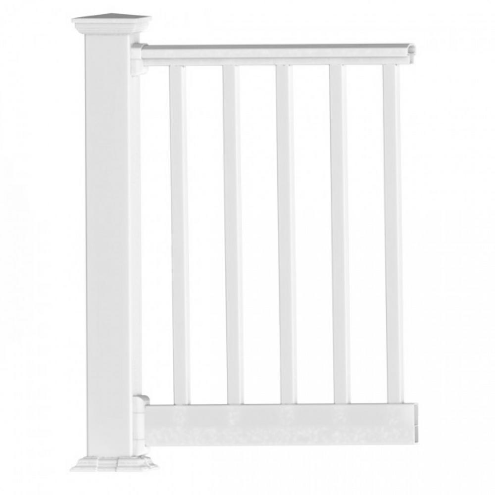 Original Rail PVC 8 ft. x 42 in. White Square Baluster