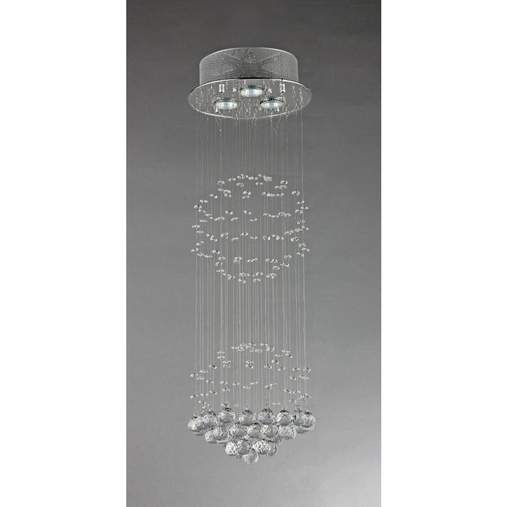 Joanne 3-Light Crystal Chrome Ceiling Light