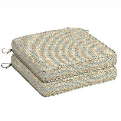 ticking stripe outdoor seat cushion 2pack