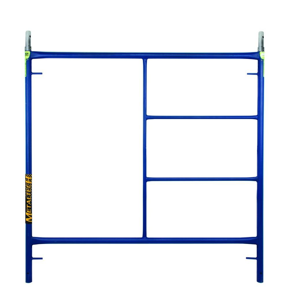 Metaltech 5 Ft X 5 Ft Blue Standard Mason Scaffold Frame