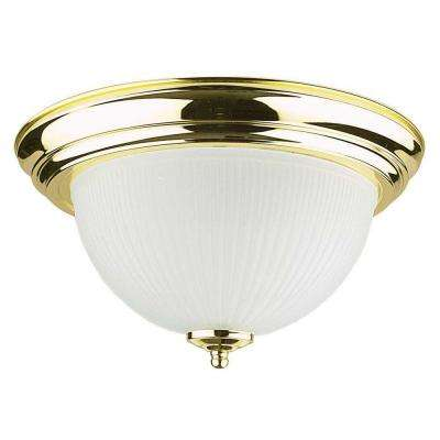 Dandridge 2-Light Polished Brass Flush Mount