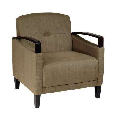Main Street Seaweed Fabric Arm Chair
