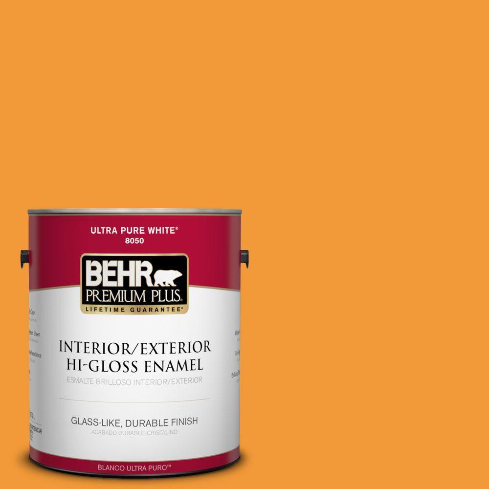 BEHR Premium Plus 1-gal. #280B-6 Amber Glow Hi-Gloss Enamel Interior/Exterior Paint