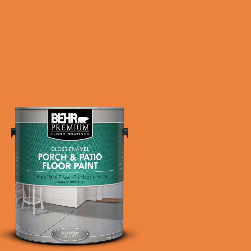 1 gal. #P220-7 Construction Zone Gloss Porch and Patio Floor Paint