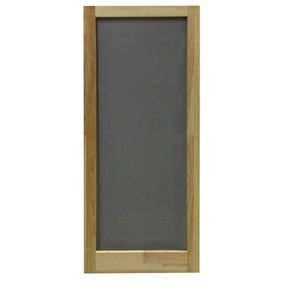 36 in. x 80 in. Meadow Wood Unfinished Reversible Hinged Screen
