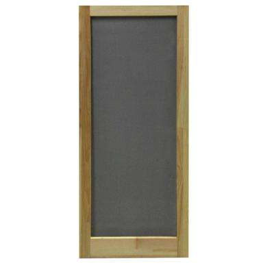 36 in. x 80 in. Meadow Wood Unfinished Reversible Hinged Screen Door