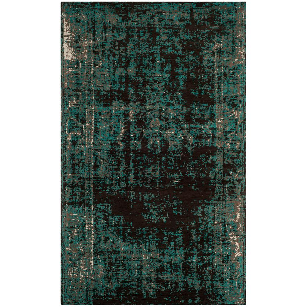 Safavieh Classic Vintage Teal Brown 5 Ft X 8 Ft Area Rug Clv225a 5