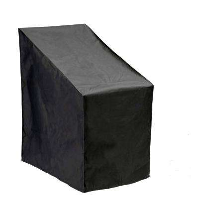 All Weather Premium Black Stackable Patio Chair Cover