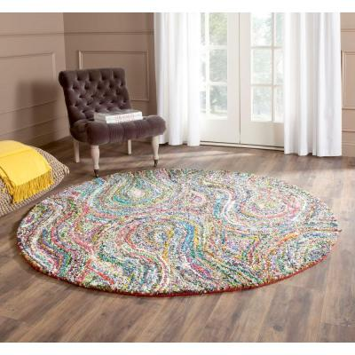 Nantucket Multi 6 ft. x 6 ft. Round Area Rug