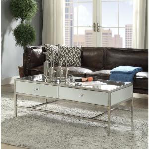 Awe Inspiring Acme Furniture Weigela Mirrored And Chrome Coffee Table Machost Co Dining Chair Design Ideas Machostcouk