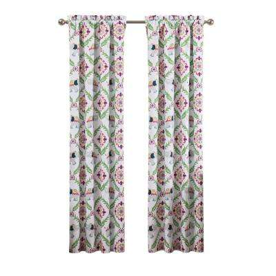 Bollywood 42 in. W x 84 in. L Blackout Polyester Window Curtain in Green