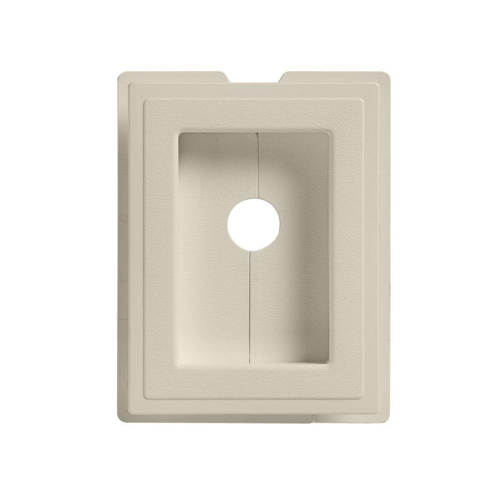 6 in. x 7.5 in. Almond Split Recessed Mounting Block