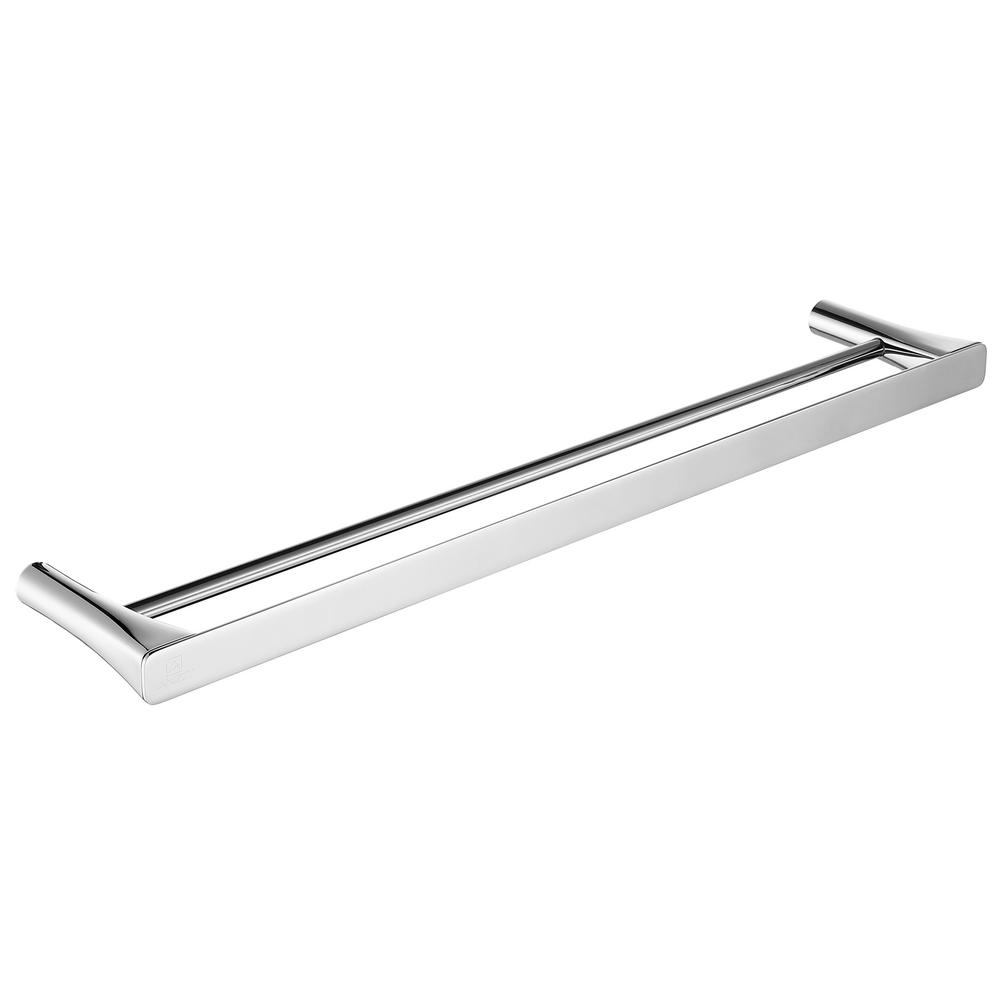 Caster 3 Series 20 in. Double Towel Bar in Polished Chrome