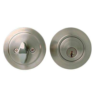 Series Grade Brushed Chrome 3-Residential Single Cylinder Deadbolt