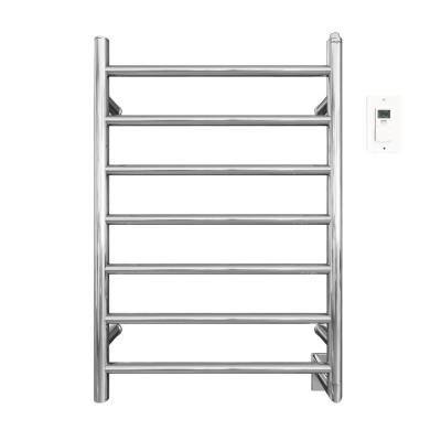 Comfort 7/31 in. Hardwired Electric Towel Warmer and Drying Rack in Chrome with Timer