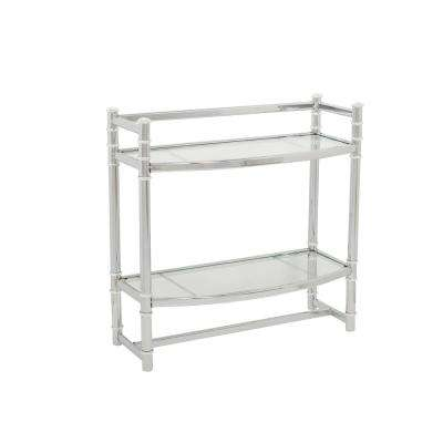 Studio Accents 21 in. W Wall Shelf in Chrome and Glass