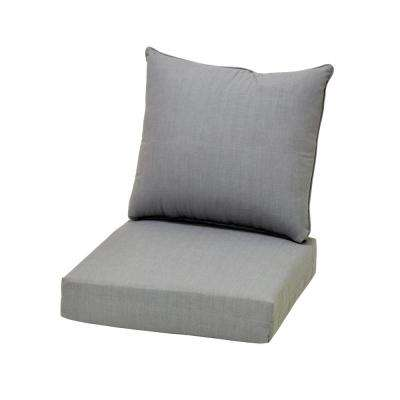 Cushionguard Pewter Deep Seating Outdoor Lounge Chair Cushion