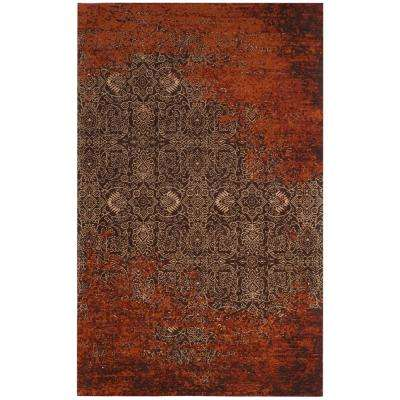 Classic Vintage Rust/Brown 5 ft. x 8 ft. Area Rug