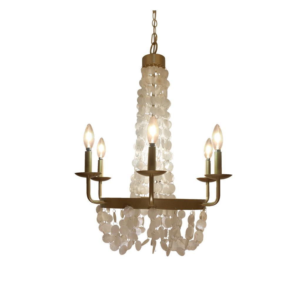 River of goods 6 light brushed gold chandelier with capiz shells river of goods 6 light brushed gold chandelier with capiz shells arubaitofo Images