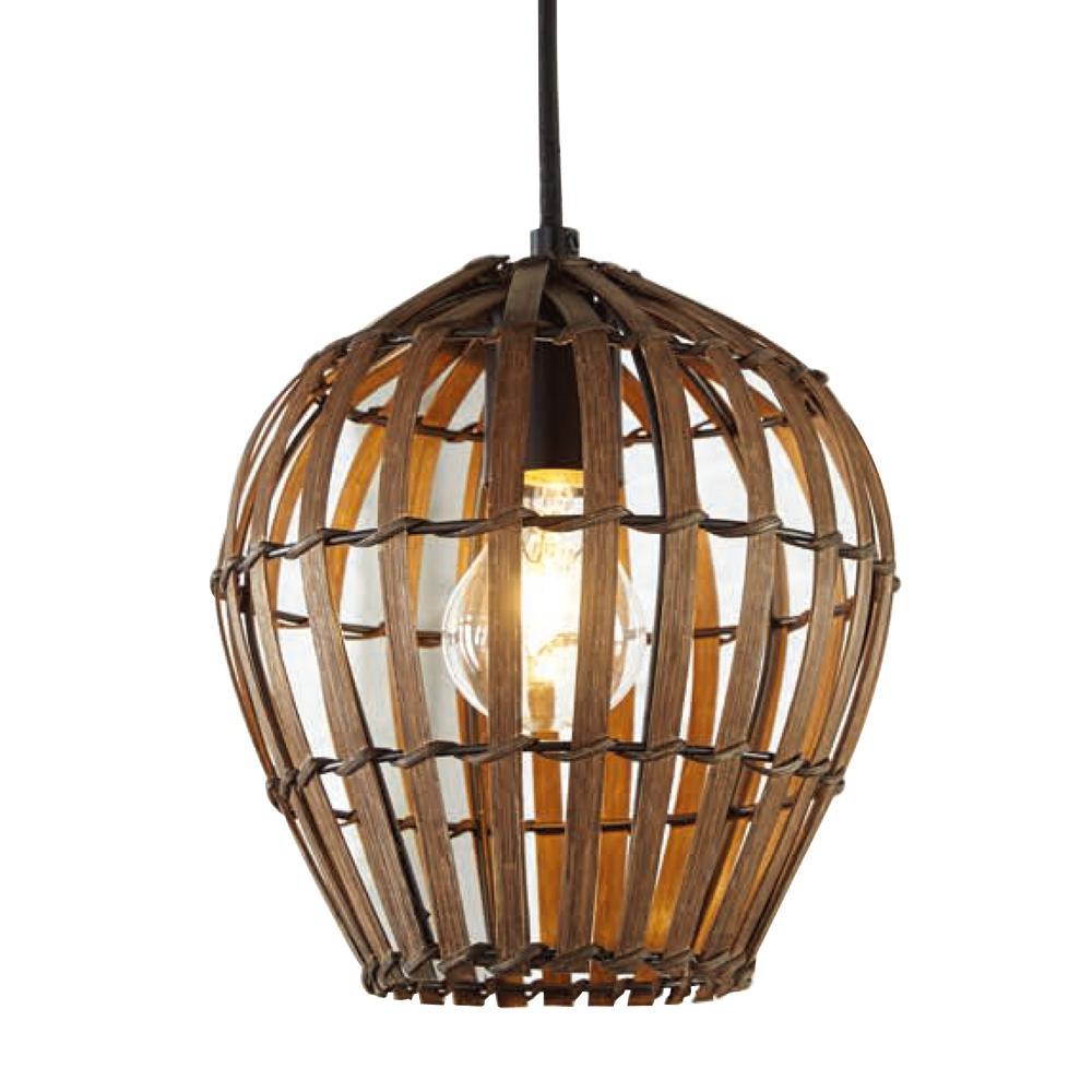 Home Decorators Collection 1- Light Bamboo Shade Mini Pendant