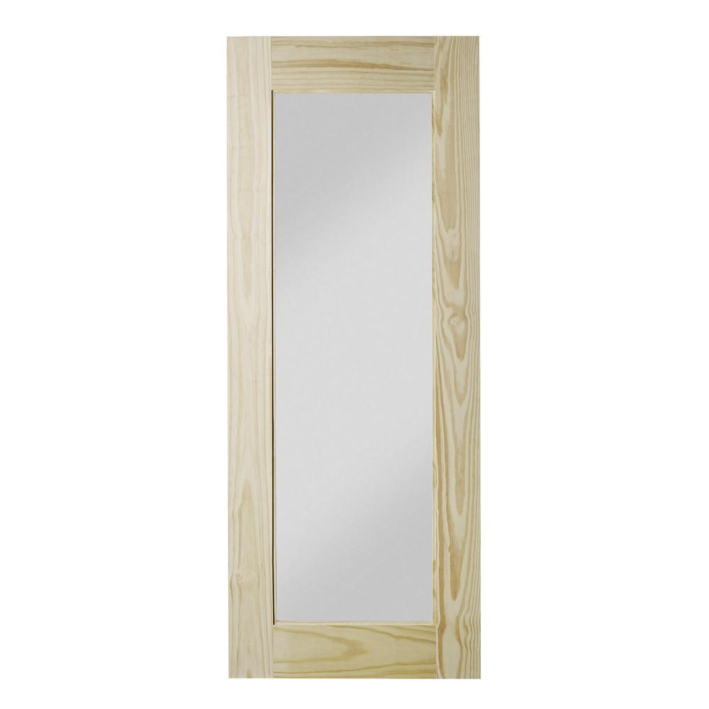 33 in. x 84 in. Reflex Unfinished Clear Pine Interior Barn Door Slab