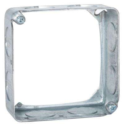 4 in. Square Drawn Extension Ring, 1-1/2 in. Deep with 3/4 in. KO's (50-Pack)