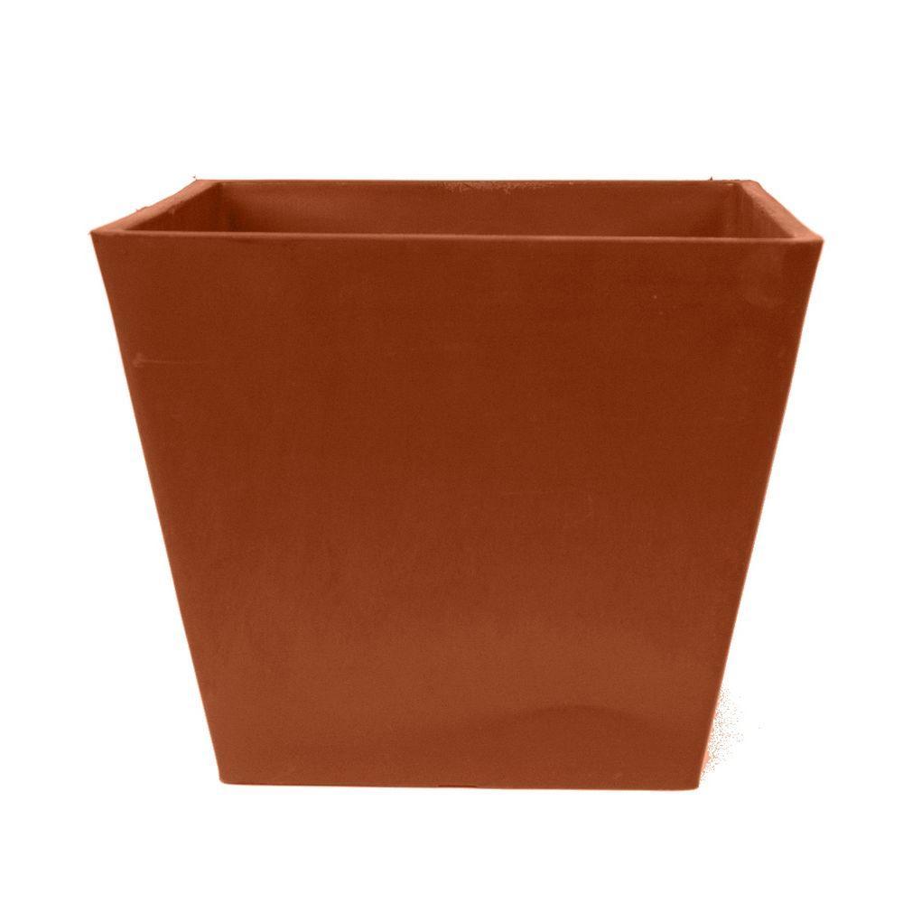 Simplicity Square 12 in. x 10 in. Terra Cotta PSW Pot
