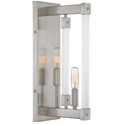 Halcyon 2-Light Satin Nickel Wall Sconce