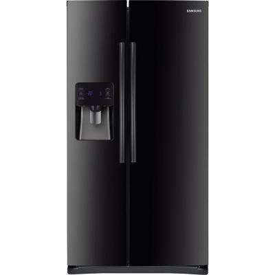 24.5 cu. ft. Side by Side Refrigerator in Black