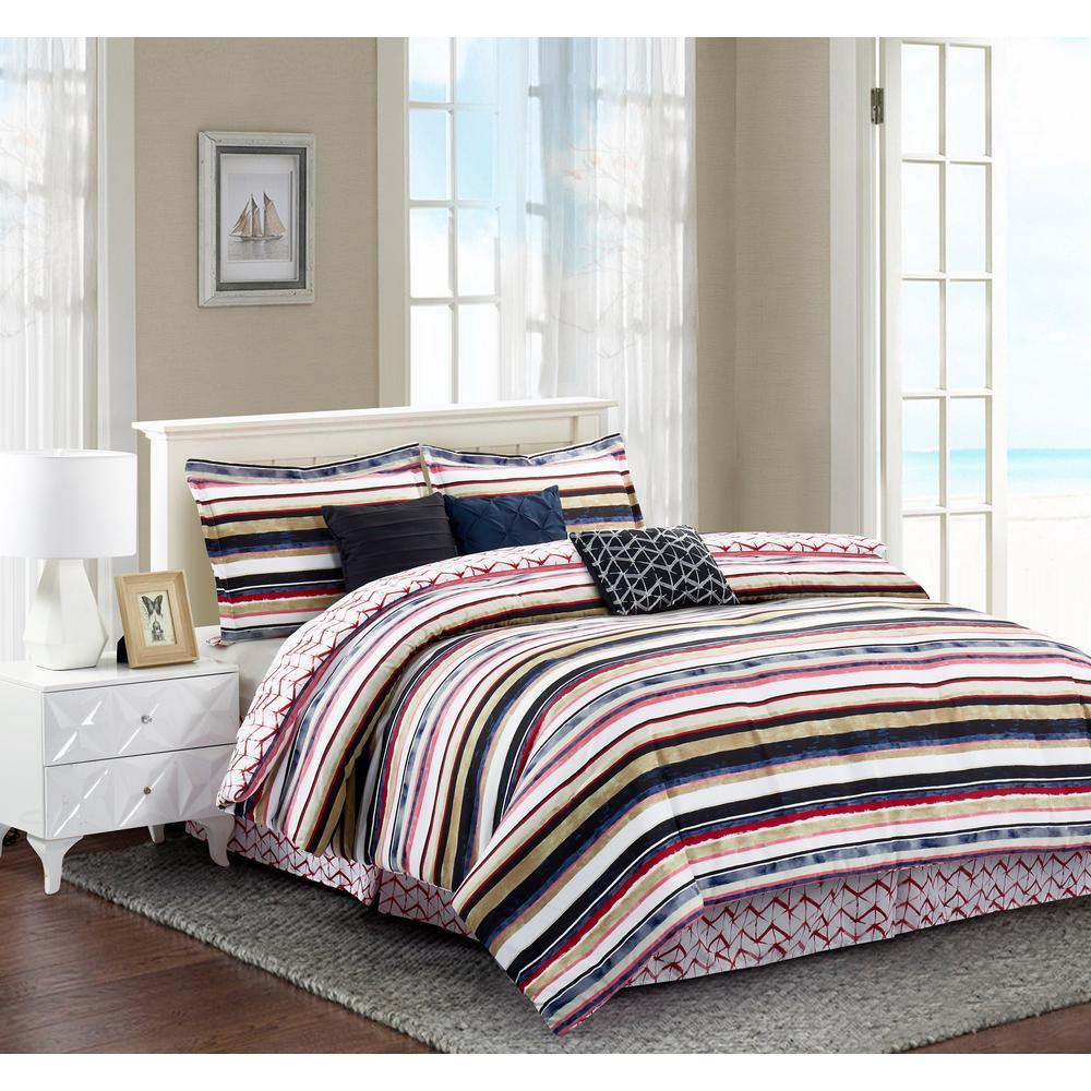 Celine 7-Piece Multicolored King Comforter Set