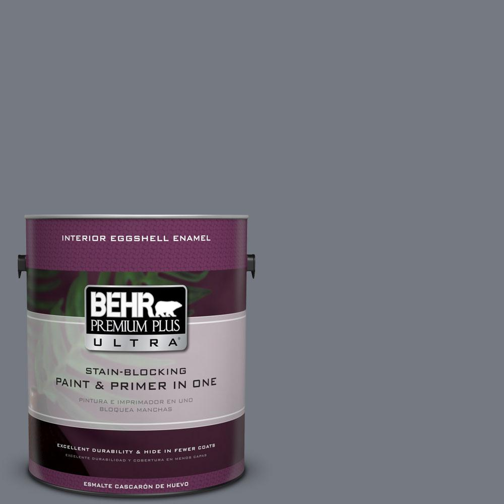 1 gal. #N510-5 Liquid Mercury Color Eggshell Enamel Interior Paint