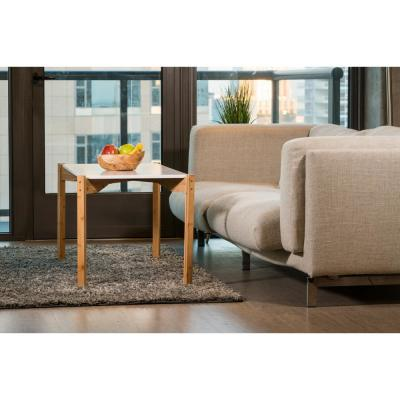 42 in. Brown Extra Long Coffee Table