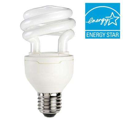 60W Equivalent Soft White (2700K) A19 Spiral Dimmable CFL Light Bulb