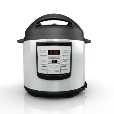 6 Qt. Stainless Steel Electric Pressure Cooker with Non-Stick Metal Insert