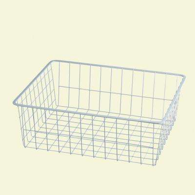 17 in. x 7 in. White Ventilated Wire Drawer