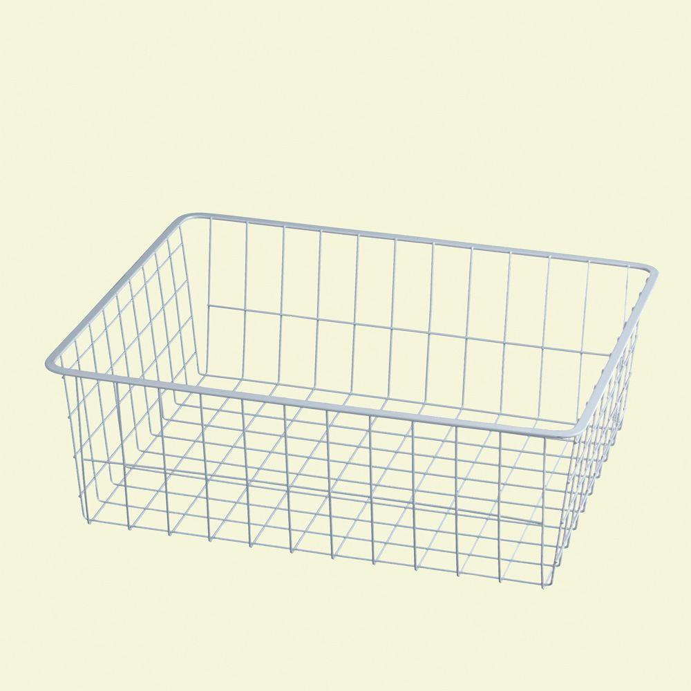 ClosetMaid 17 in. x 7 in. White Ventilated Wire Drawer