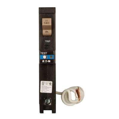 Type CH 20 Amp 3/4 in. Single-Pole Dual Function Arc Fault/Ground Fault Circuit Breaker with Trip Flag
