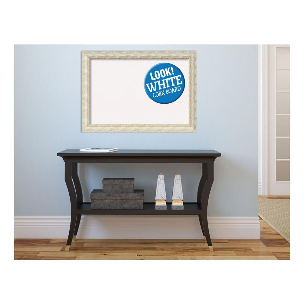 Cape Cod White Wash Wood 28 in. x 20 in. Framed