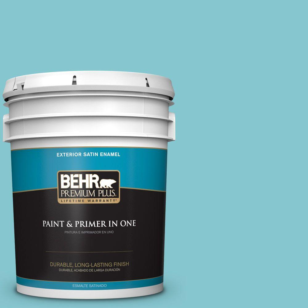 5-gal. #520D-4 Shallow Sea Satin Enamel Exterior Paint