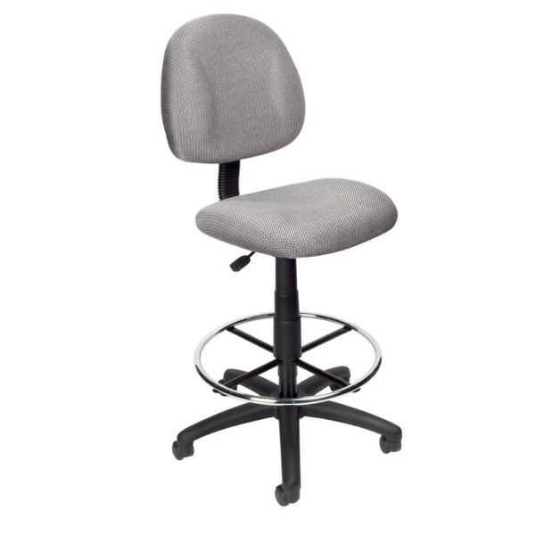 Boss Grey Armless Drafting Stool B1615 Gy The Home Depot