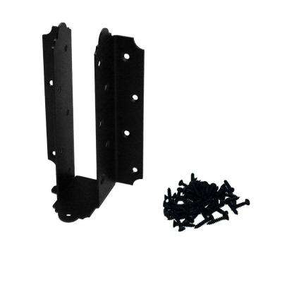 Adjustable Laredo Sunset 8 in. - 10 in. Black Galvanized Steel Joist Hanger (4-Piece/Box)