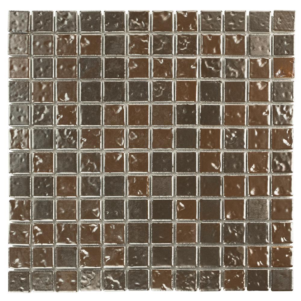 Tetsu Ore Antique Copper 12 In X 6 Mm Porcelain Mosaic